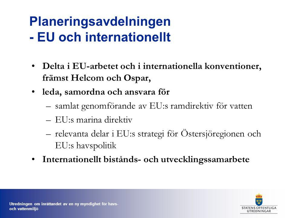 Planeringsavdelningen - EU och internationellt
