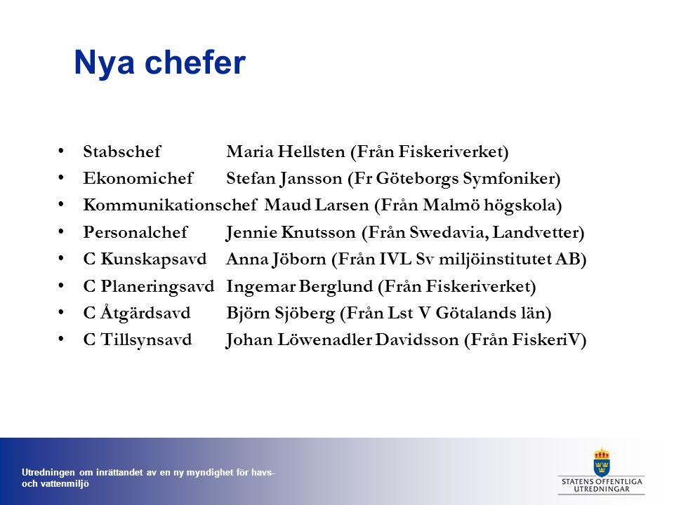 Nya chefer Stabschef Maria Hellsten (Från Fiskeriverket)