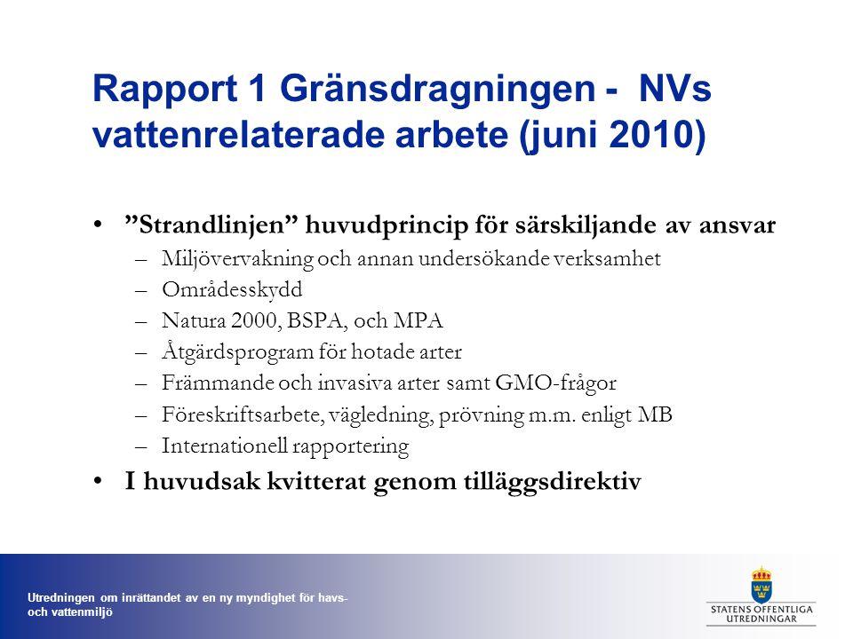 Rapport 1 Gränsdragningen - NVs vattenrelaterade arbete (juni 2010)