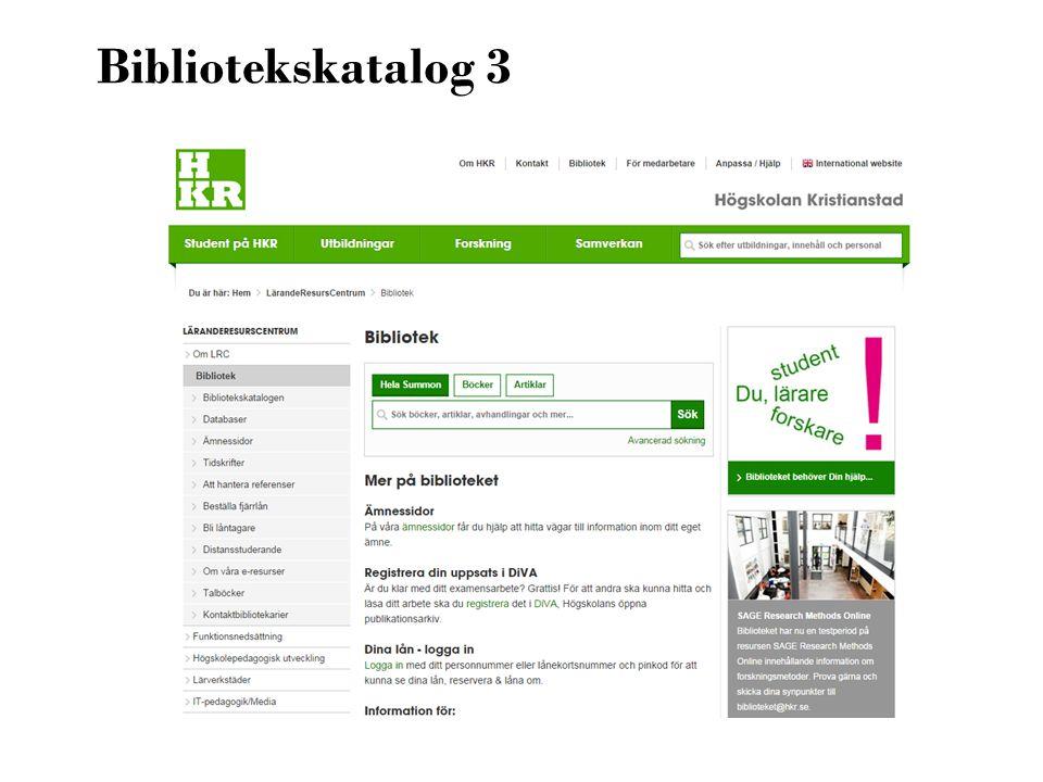 Bibliotekskatalog 3