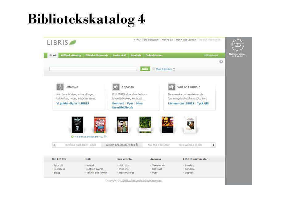 Bibliotekskatalog 4