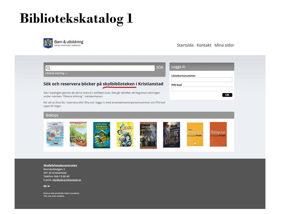 Bibliotekskatalog 1