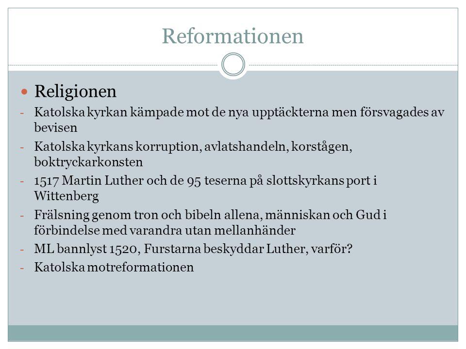 Reformationen Religionen