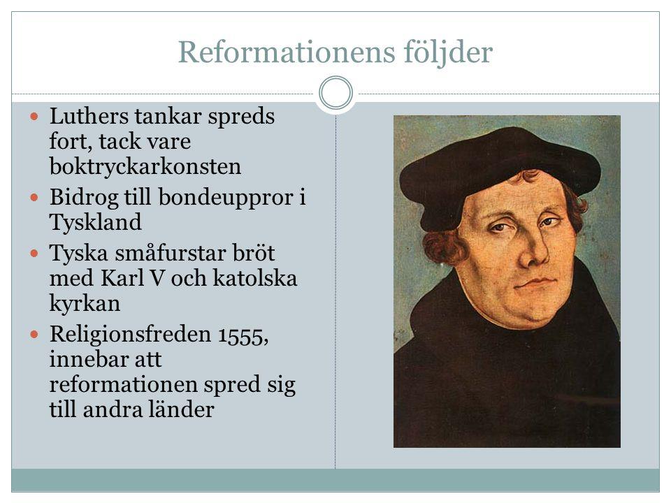 Reformationens följder