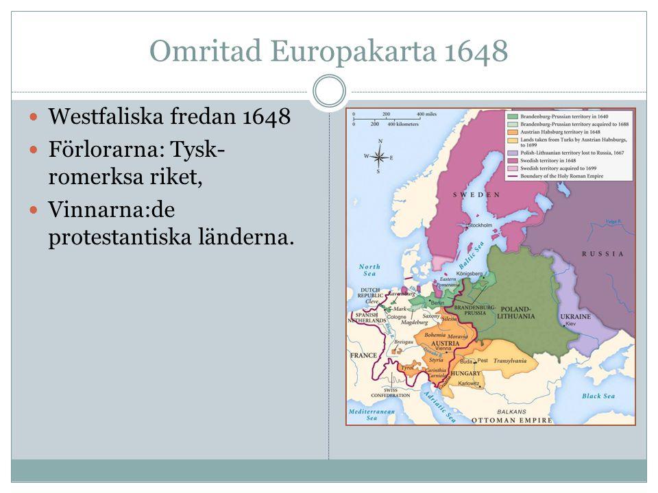 Omritad Europakarta 1648 Westfaliska fredan 1648