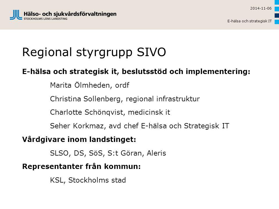 Regional styrgrupp SIVO