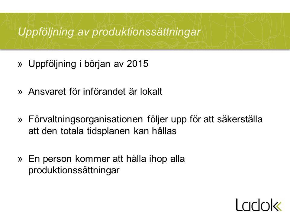 Uppföljning av produktionssättningar
