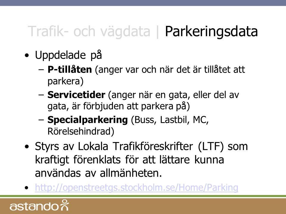 Trafik- och vägdata | Parkeringsdata