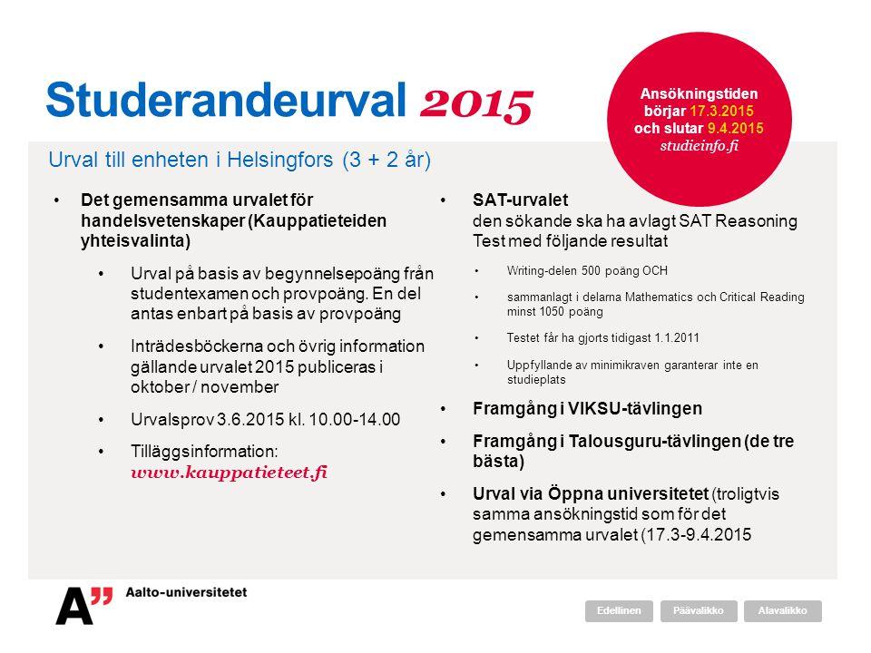 Ansökningstiden börjar 17.3.2015 och slutar 9.4.2015