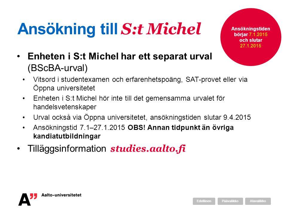 Ansökning till S:t Michel