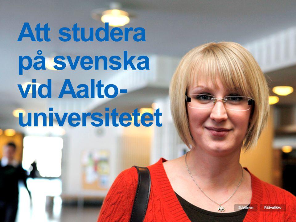 Att studera på svenska vid Aalto-universitetet