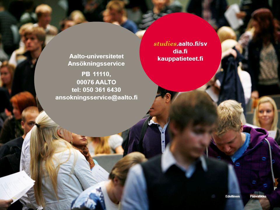 studies.aalto.fi/sv dia.fi kauppatieteet.fi Aalto-universitetet