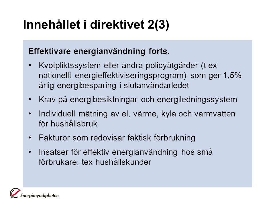Innehållet i direktivet 2(3)