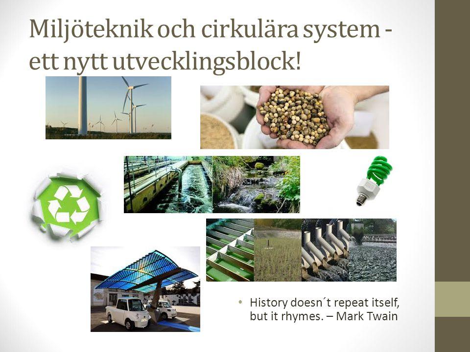 Miljöteknik och cirkulära system - ett nytt utvecklingsblock!