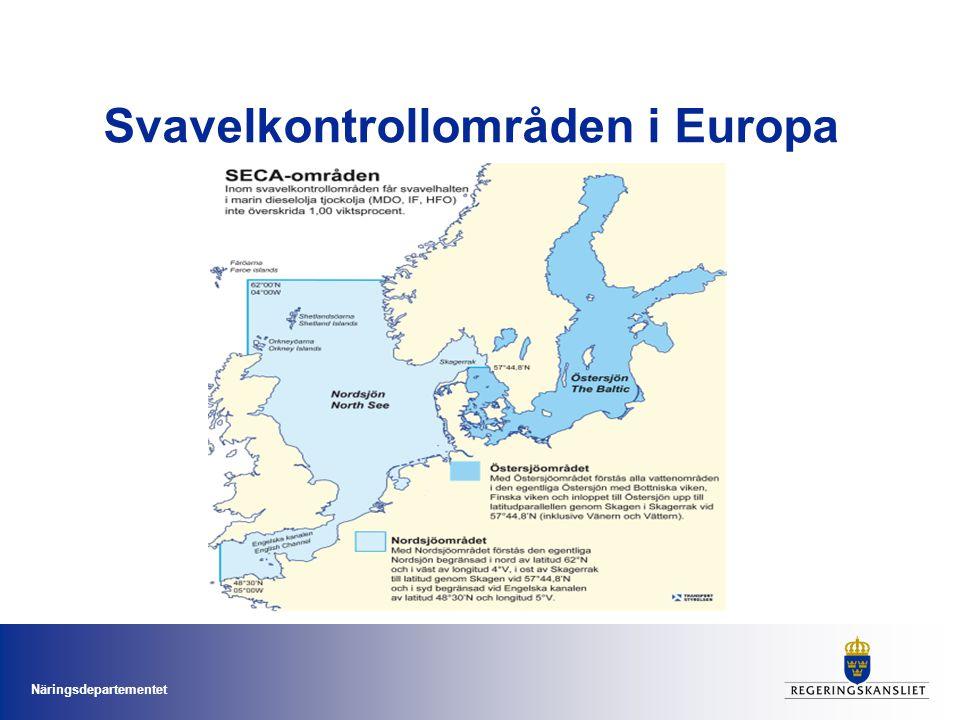Svavelkontrollområden i Europa