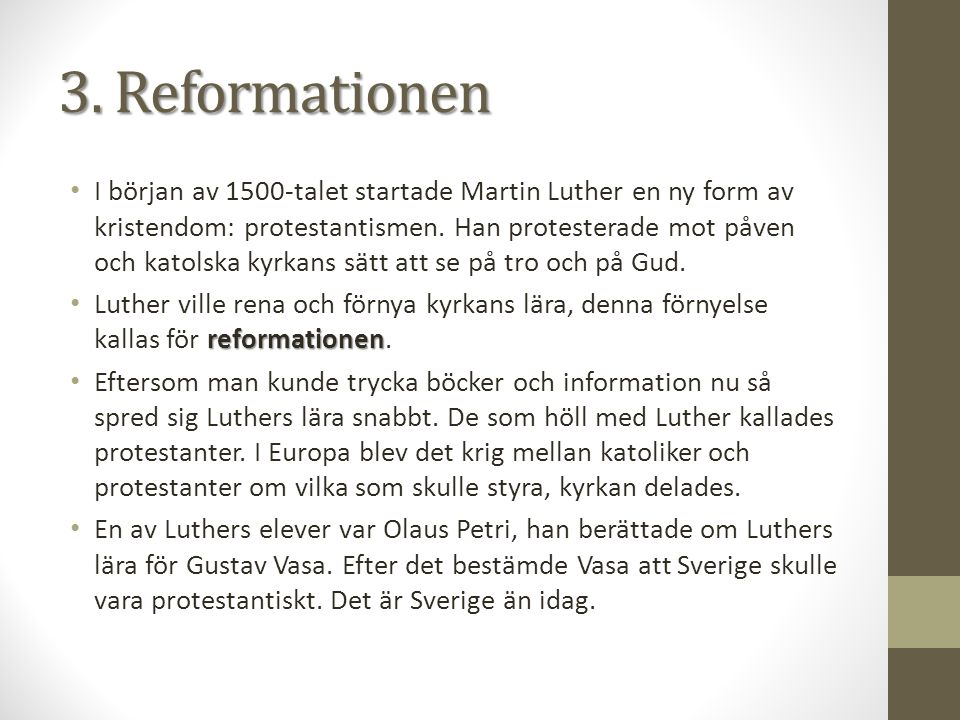 3. Reformationen