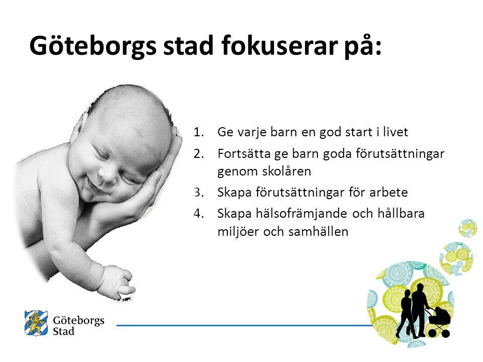 Göteborgs stad fokuserar på: