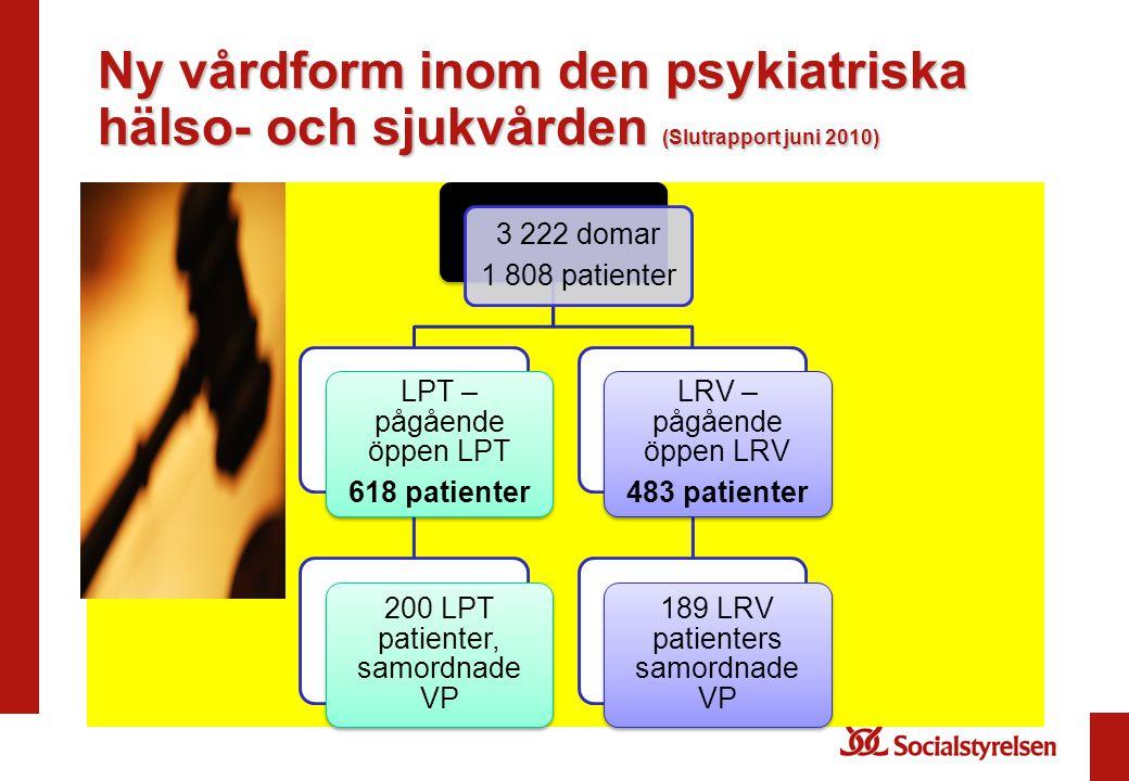 Ny vårdform inom den psykiatriska hälso- och sjukvården (Slutrapport juni 2010)