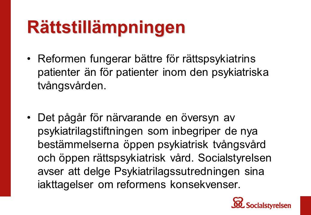 Rättstillämpningen Reformen fungerar bättre för rättspsykiatrins patienter än för patienter inom den psykiatriska tvångsvården.