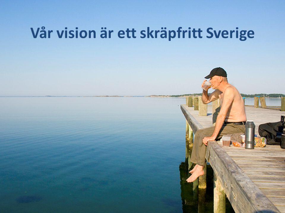 Vår vision är ett skräpfritt Sverige