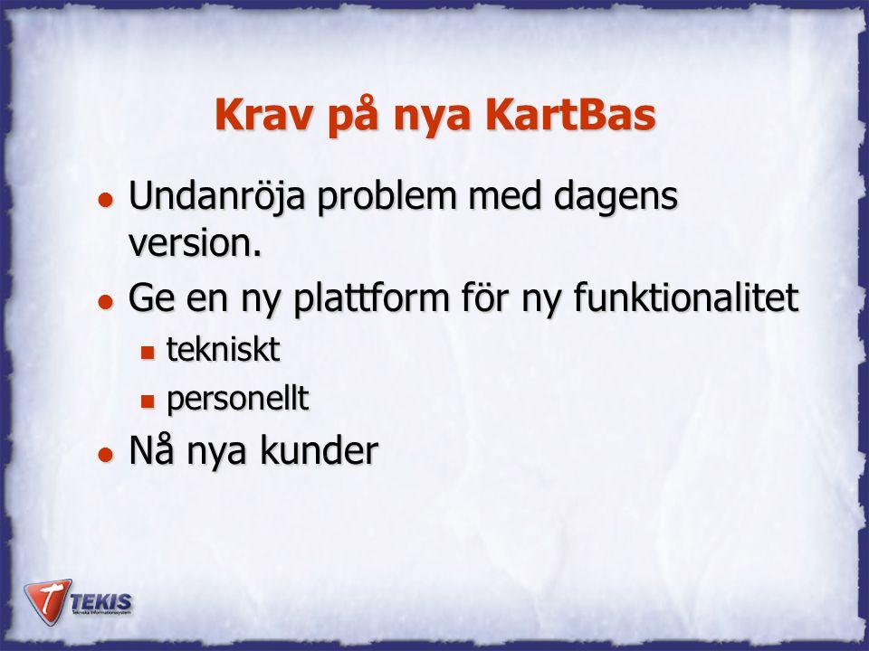 Krav på nya KartBas Undanröja problem med dagens version.