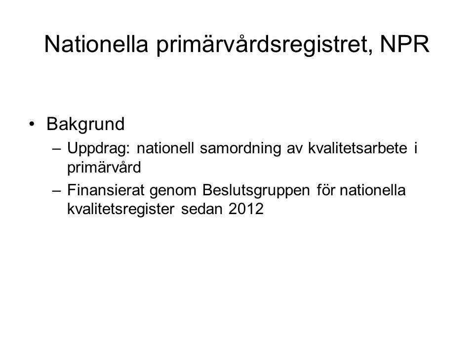 Nationella primärvårdsregistret, NPR