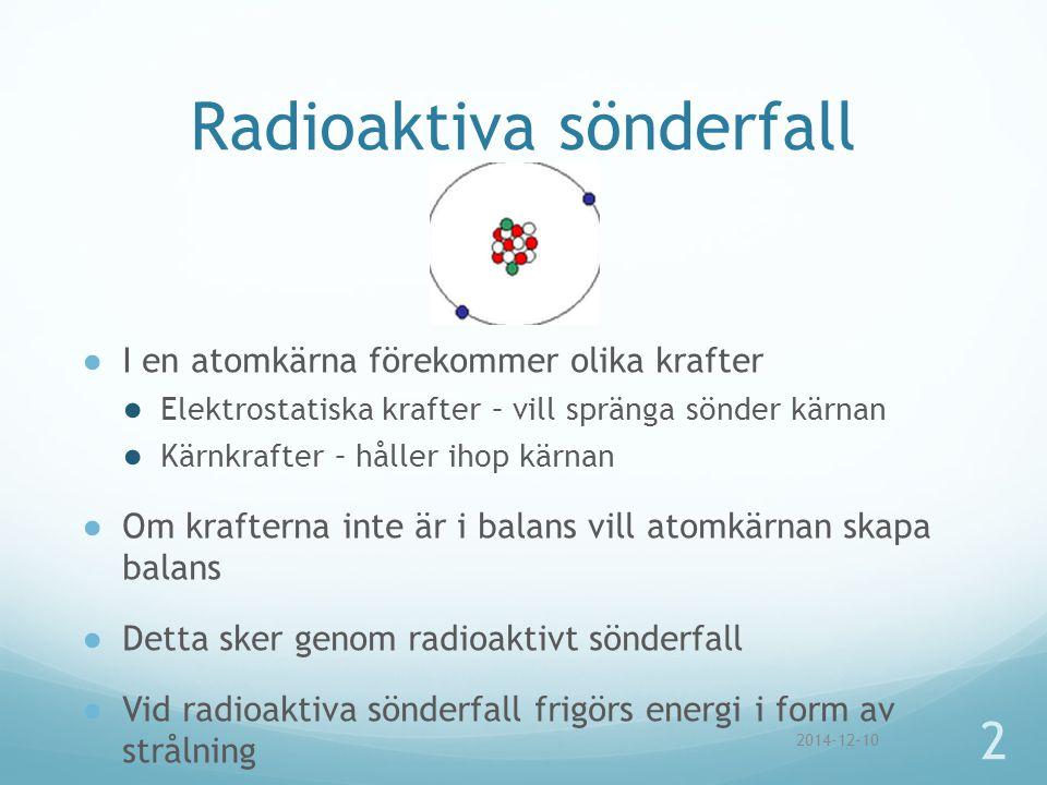 Radioaktiva sönderfall