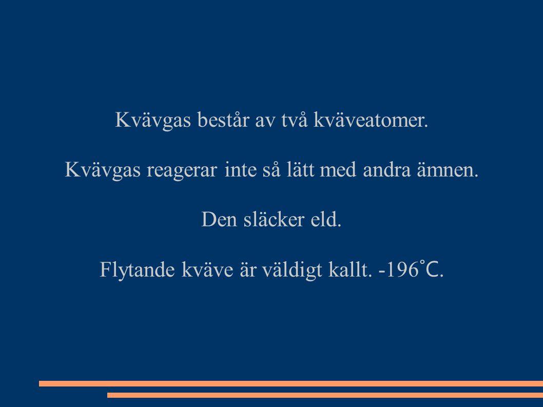 Kvävgas består av två kväveatomer.