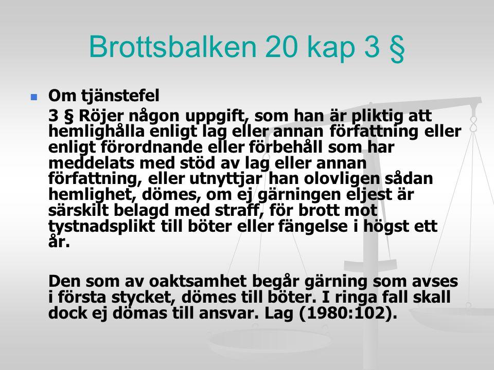 Brottsbalken 20 kap 3 § Om tjänstefel
