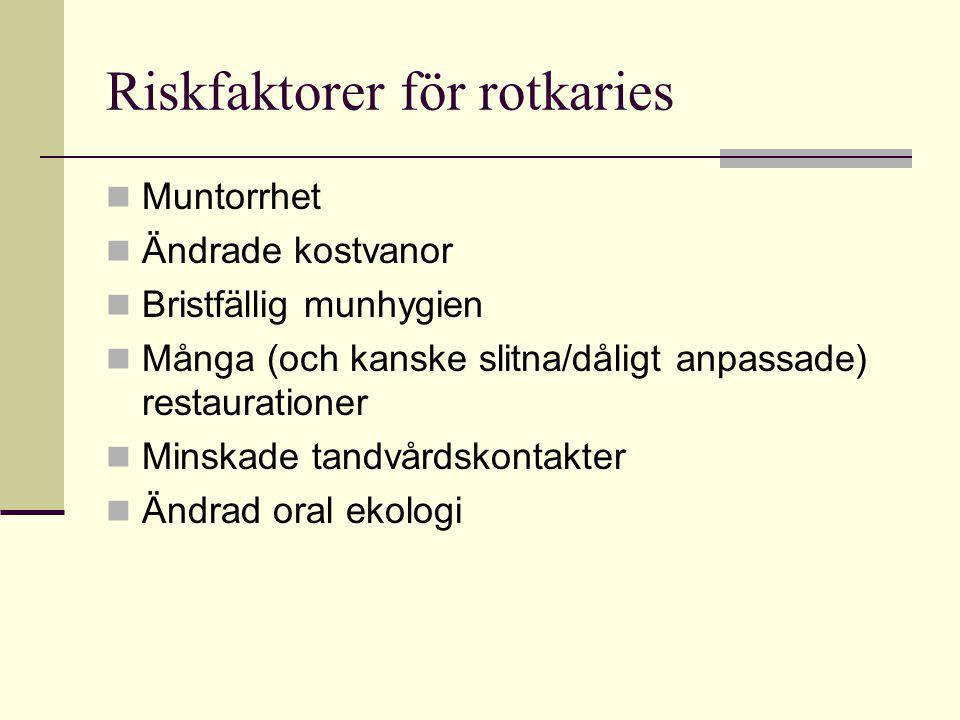 Riskfaktorer för rotkaries