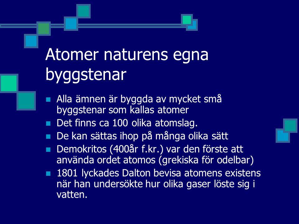 Atomer naturens egna byggstenar