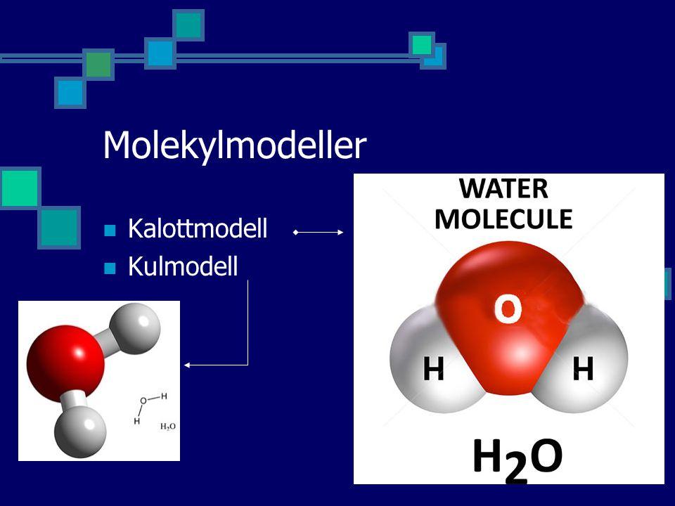 Molekylmodeller Kalottmodell Kulmodell