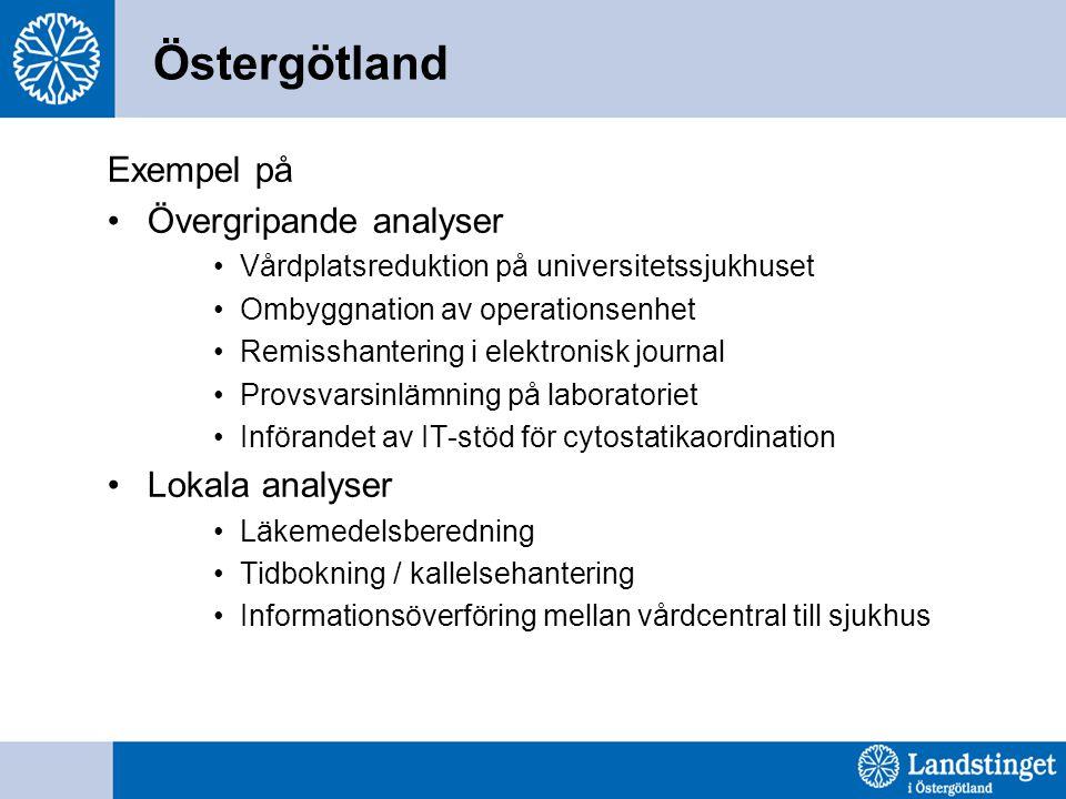 Östergötland Exempel på Övergripande analyser Lokala analyser