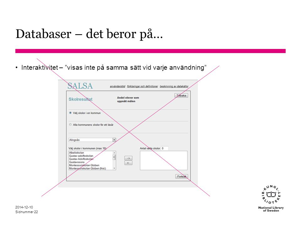 Databaser – det beror på…