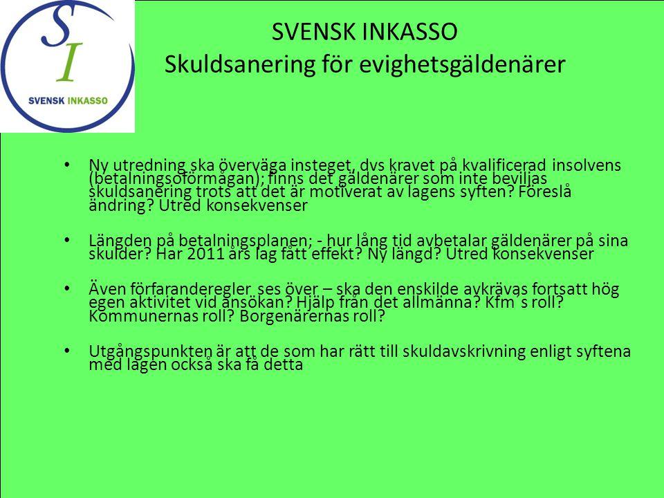 SVENSK INKASSO Skuldsanering för evighetsgäldenärer
