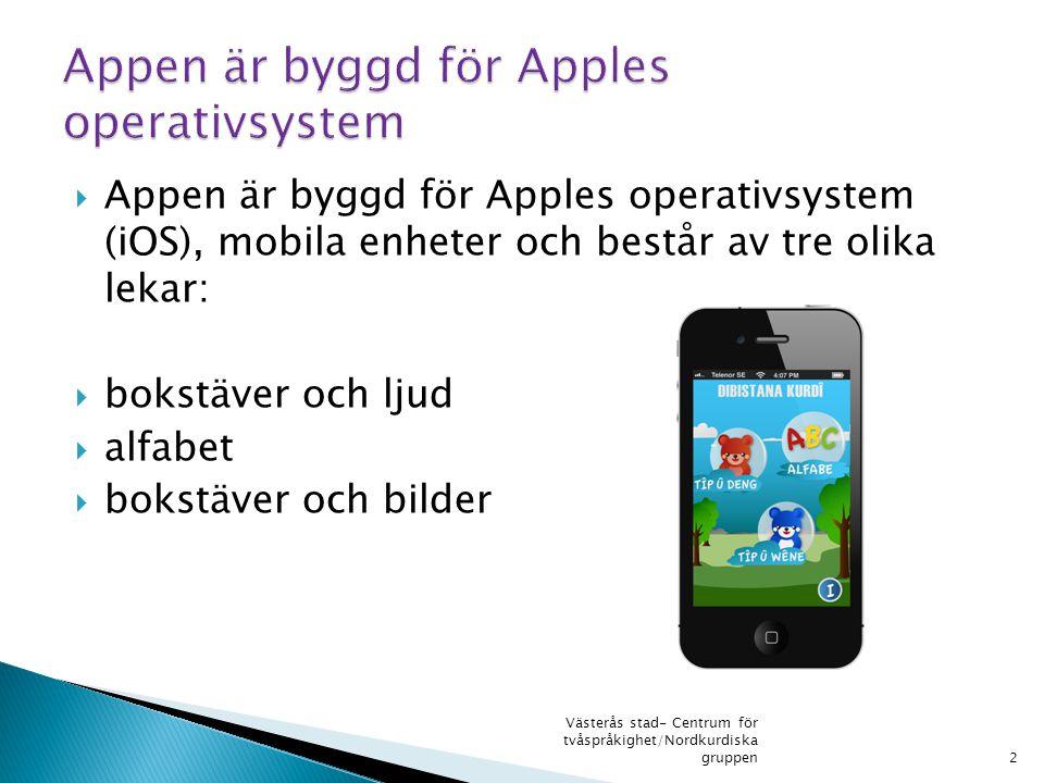 Appen är byggd för Apples operativsystem