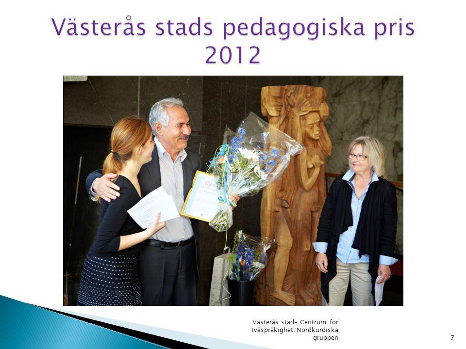 Västerås stads pedagogiska pris 2012