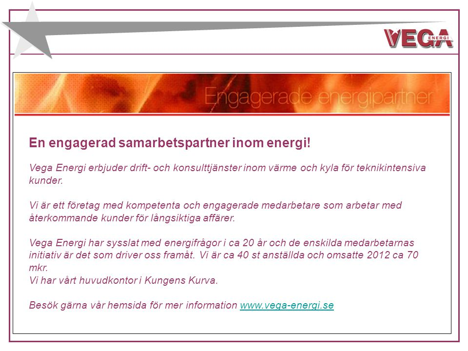 En engagerad samarbetspartner inom energi!