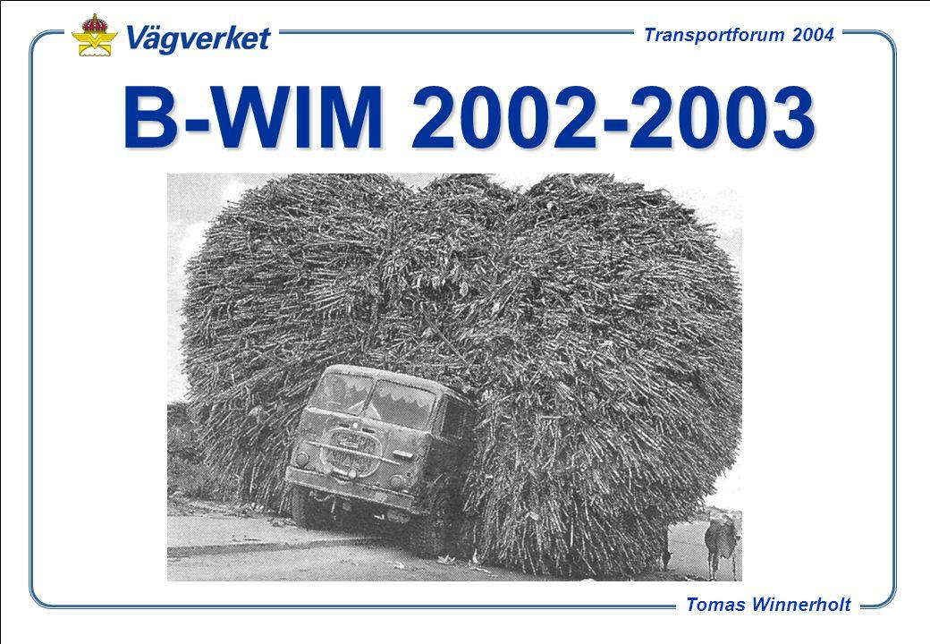 B-WIM 2002-2003 Kort om projektet