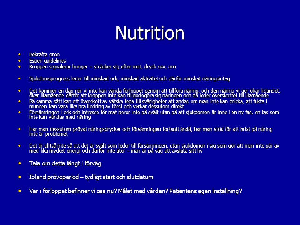 Nutrition Tala om detta långt i förväg