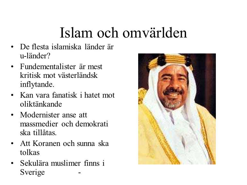 Islam och omvärlden De flesta islamiska länder är u-länder