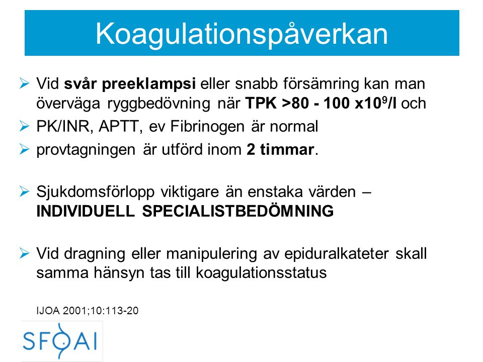 Koagulationspåverkan
