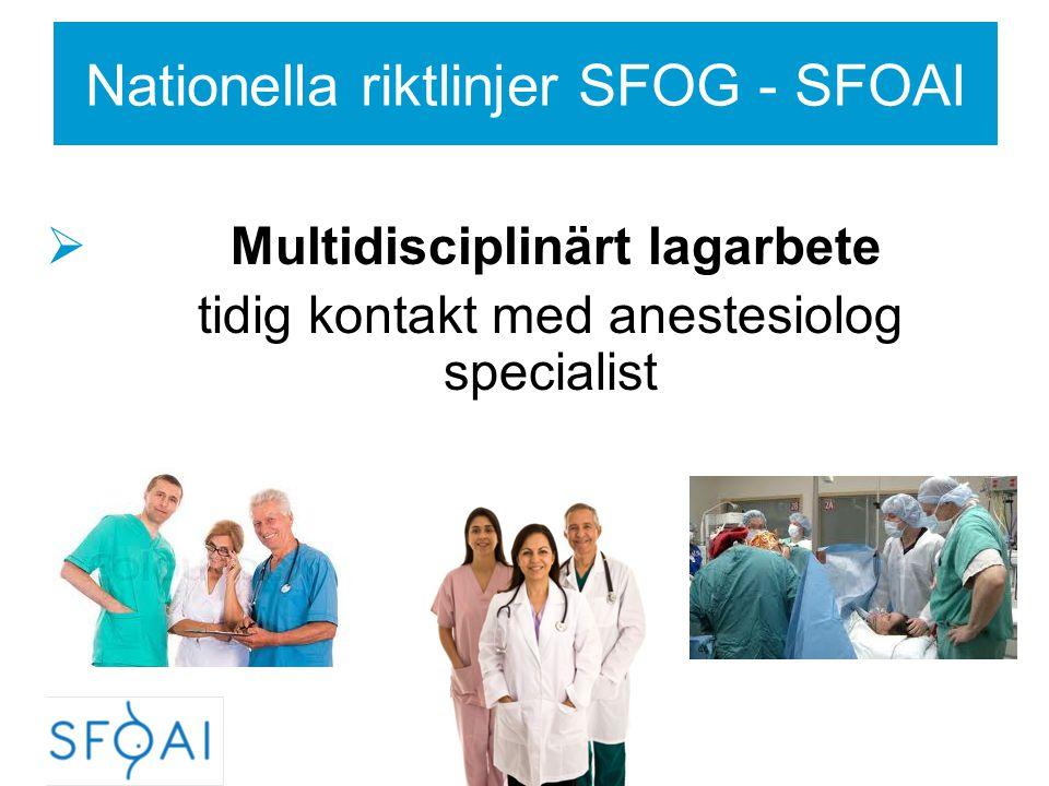 Nationella riktlinjer SFOG - SFOAI