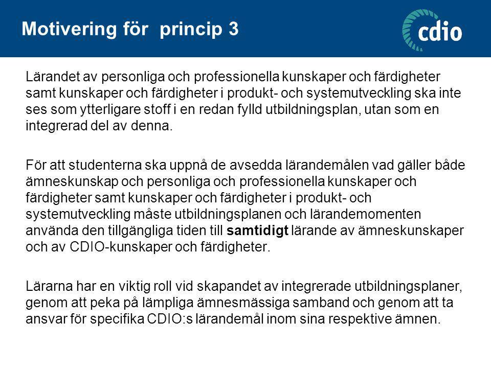 Motivering för princip 3