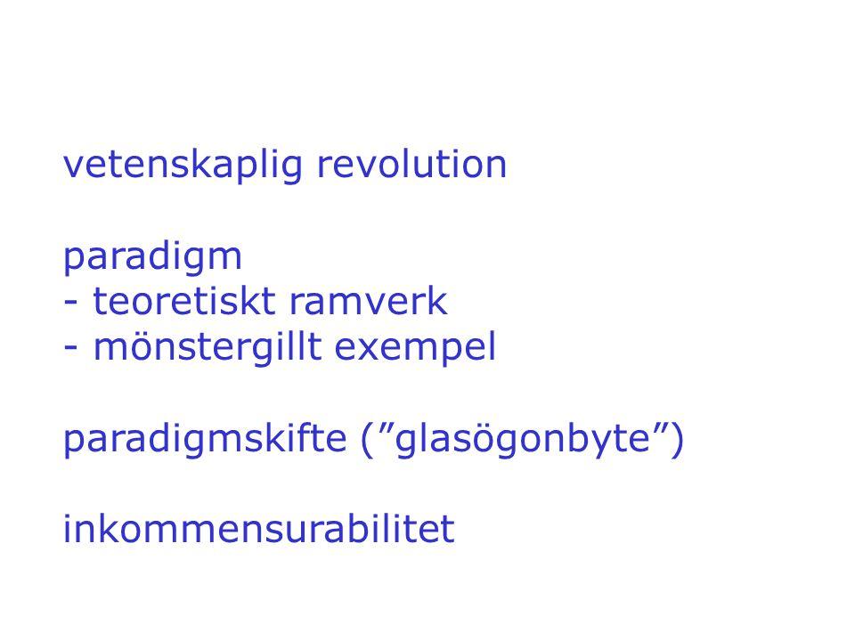 vetenskaplig revolution paradigm - teoretiskt ramverk