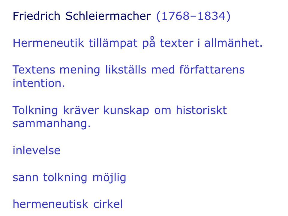 Friedrich Schleiermacher (1768–1834)