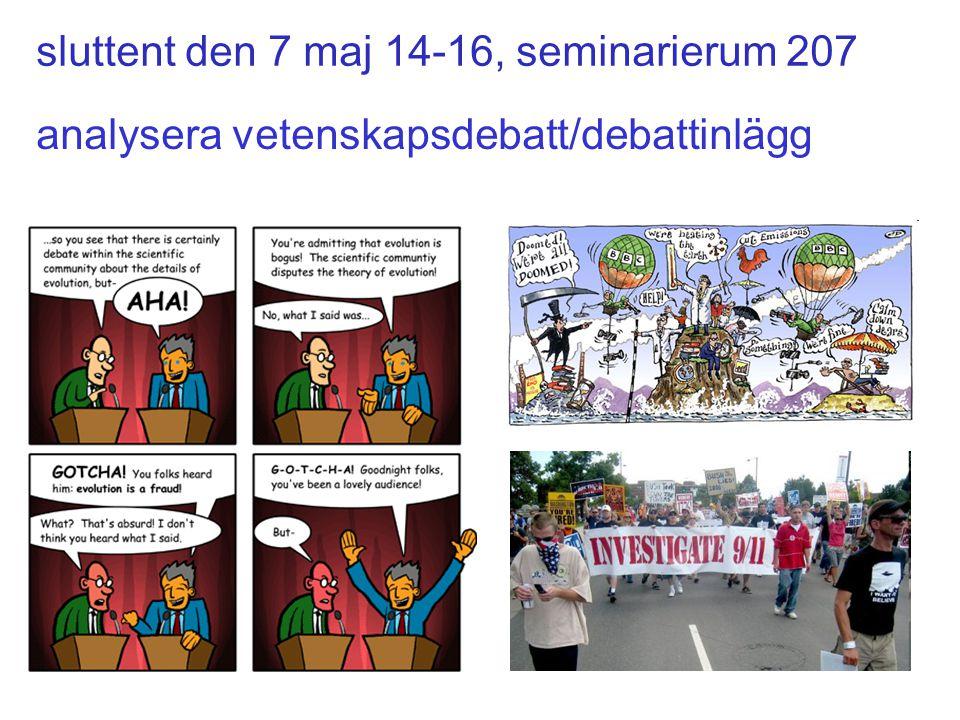 sluttent den 7 maj 14-16, seminarierum 207