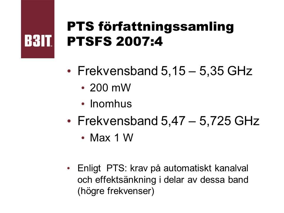 PTS författningssamling PTSFS 2007:4