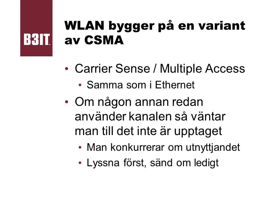 WLAN bygger på en variant av CSMA