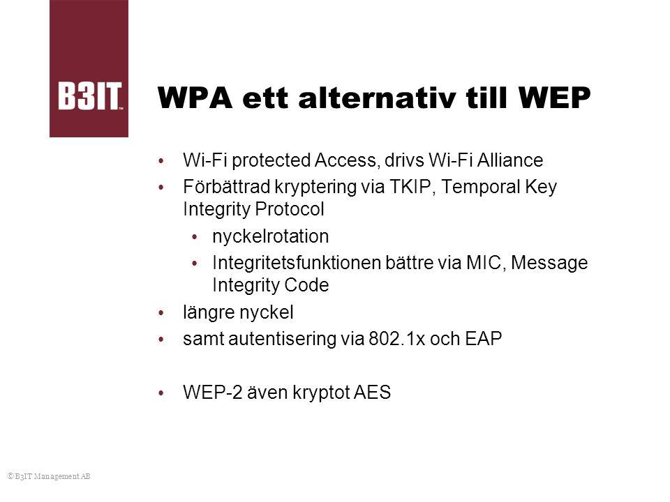 WPA ett alternativ till WEP